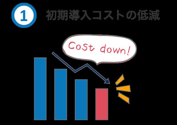 初期導入コストの低減